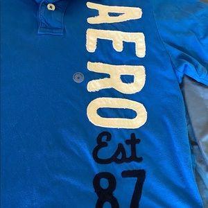 Aeropostale Shirts - Blue Medium Aeropostale Short Sleeve Collar Shirt